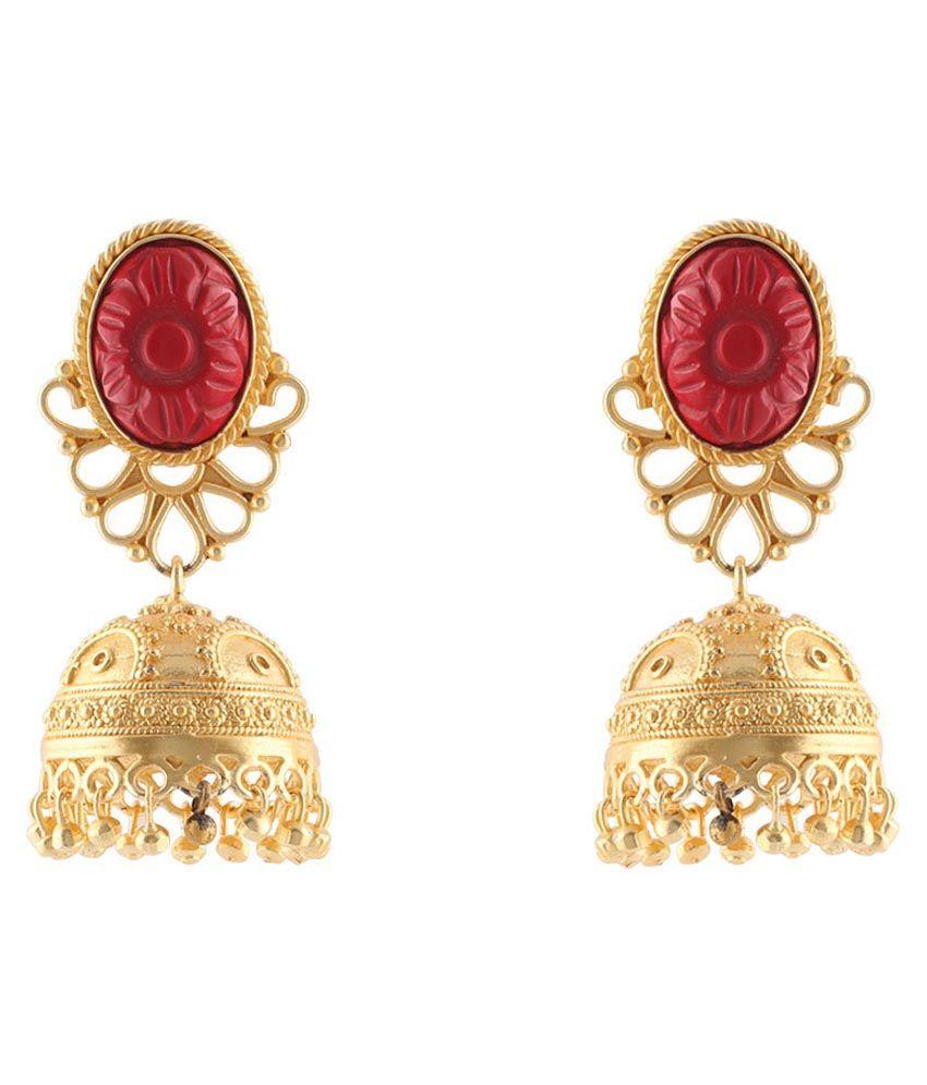 Magic Mirror Golden Designer Earrings