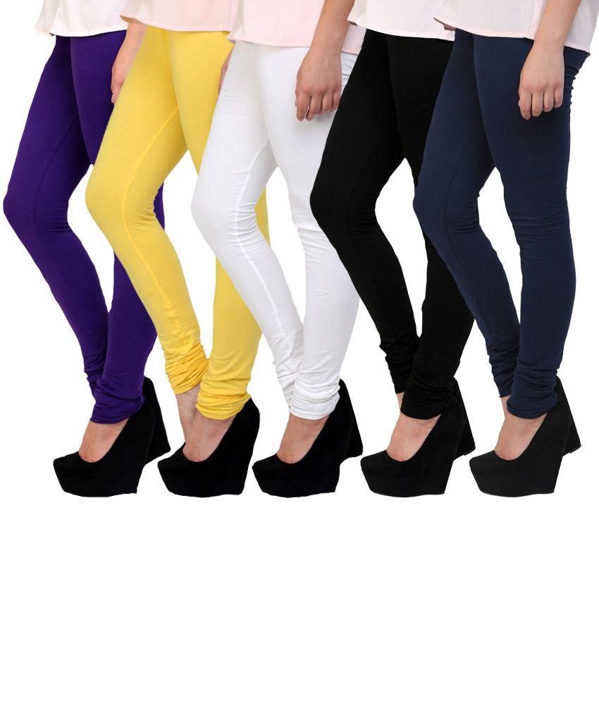 E'Hiose Multi Color Cotton Leggings