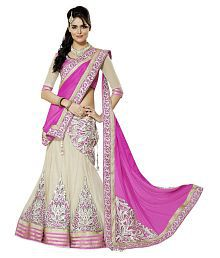 V/S fashion White Color Styles Lehanga Choli
