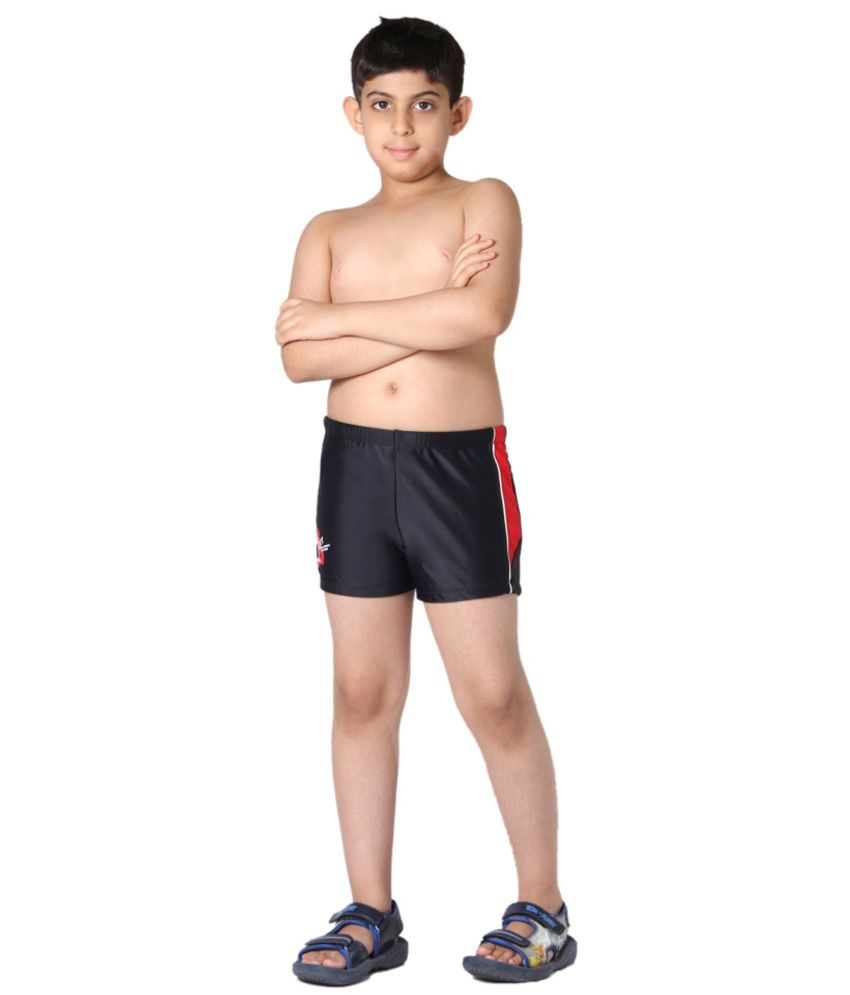 Indraprastha Black Boys Swimming Trunks and Costume/ Swimming Costume