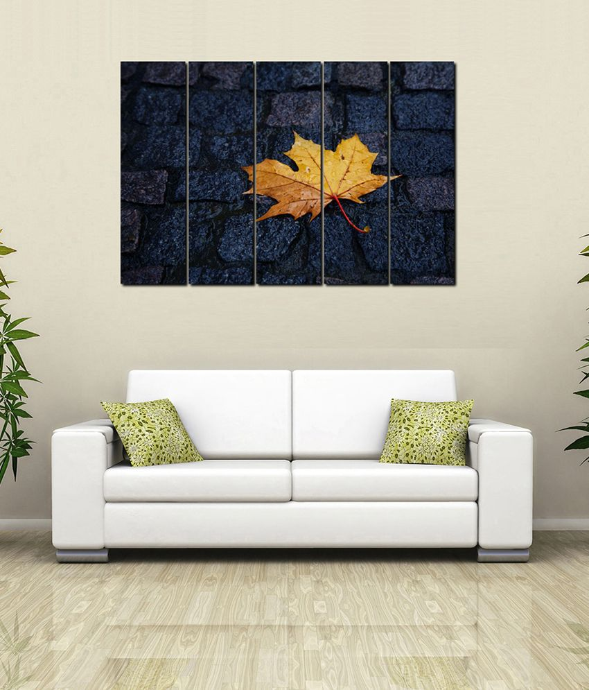 999Store Glossy Paintings With Frame Set of 5