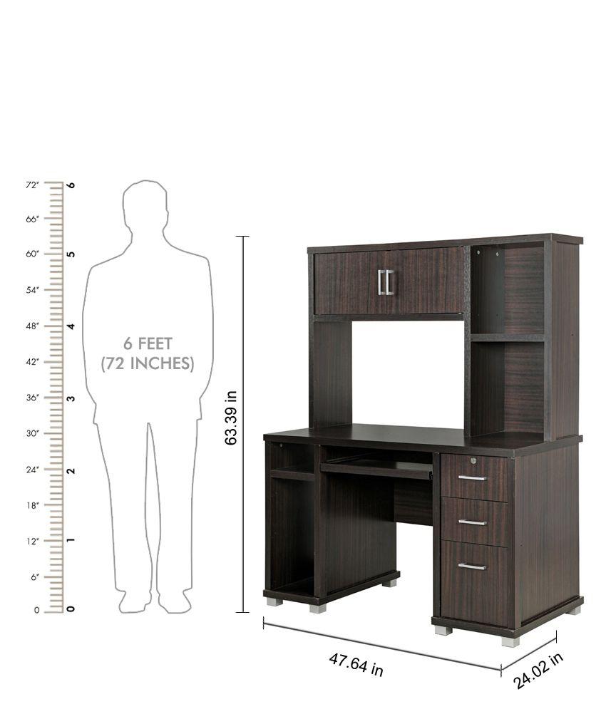 royaloak eva computer table with dark finish buy royaloak eva rh snapdeal com