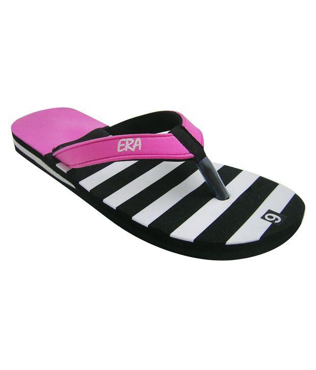 ERA EVA Black & Pink Flip Flops