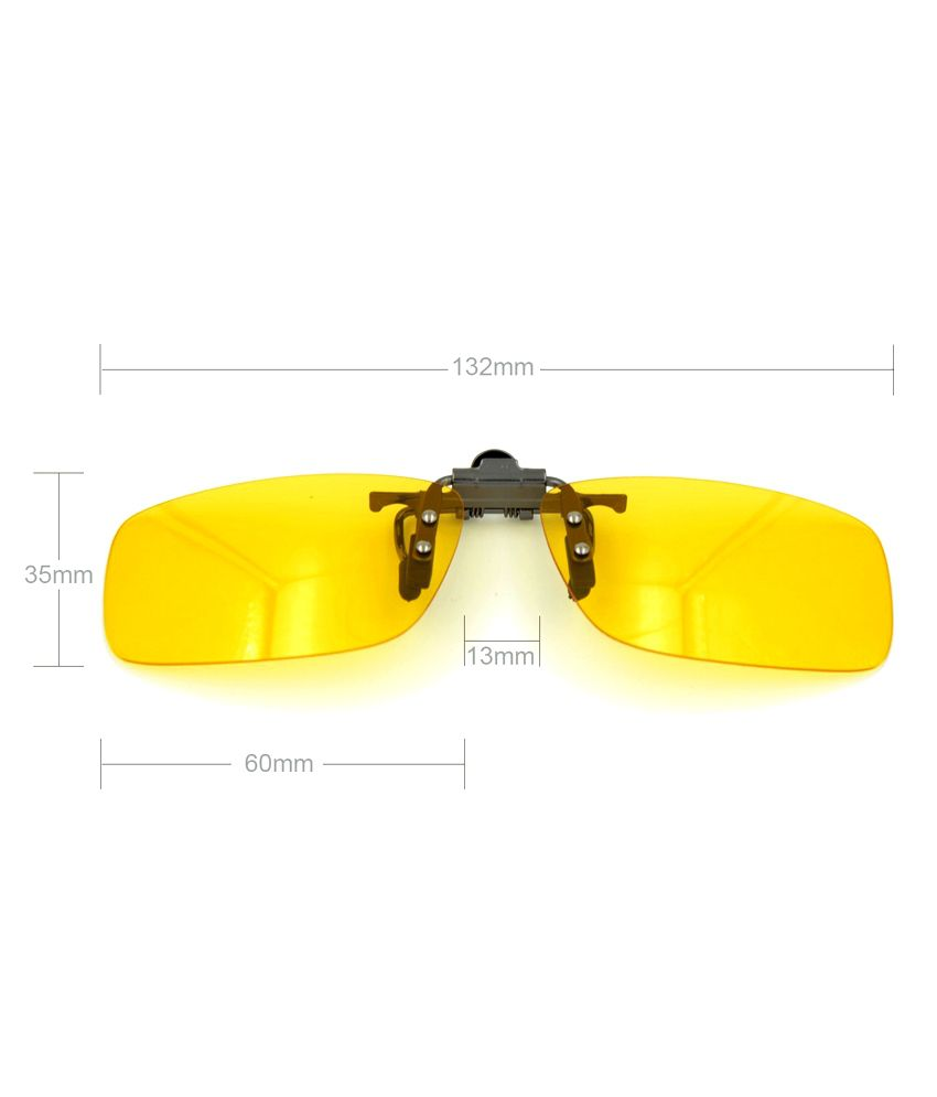 6f7cfeb976 ... Enem Yellow Night Vision Polarized Clip-on Flip-up Aviator Driving  Sunglasses ...