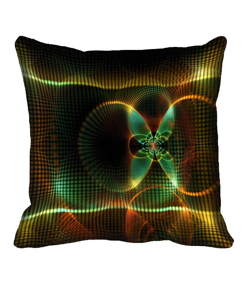 Mesleep Abstract Multicolor Satin Digitally Printed Abstract Cushion Cover - 1 Pc