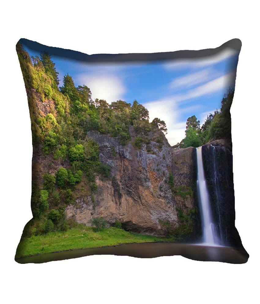 Mesleep Nature Multicolor Satin Digitally Printed Natural Cushion Cover - 4 Pcs