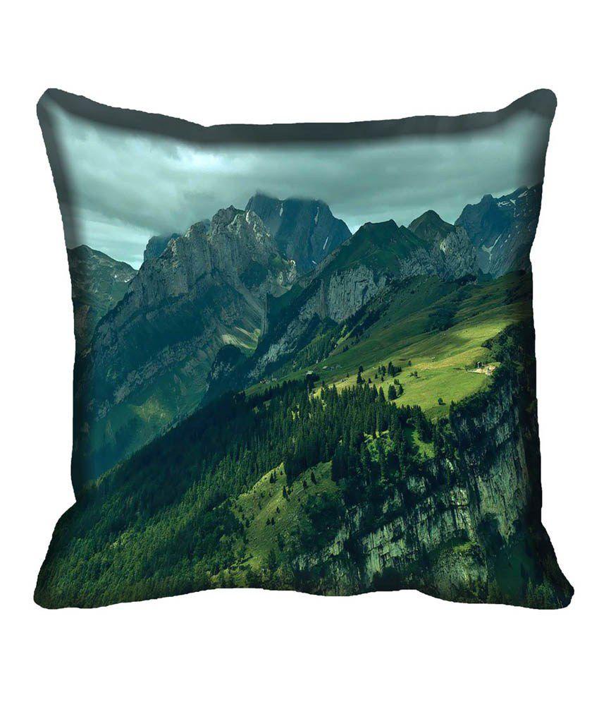 Mesleep Nature Multicolor Satin Digitally Printed Natural Cushion Cover - 1 Pc