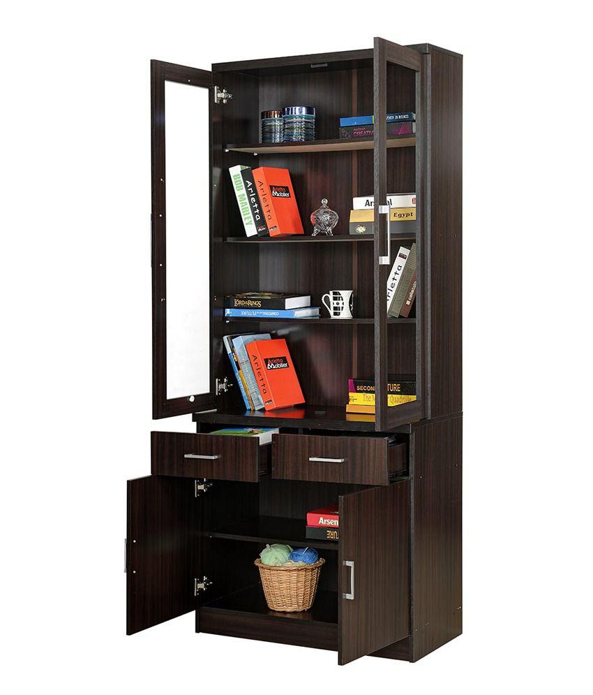 Royal Oak Two-Door Bookshelf With Dark Finish