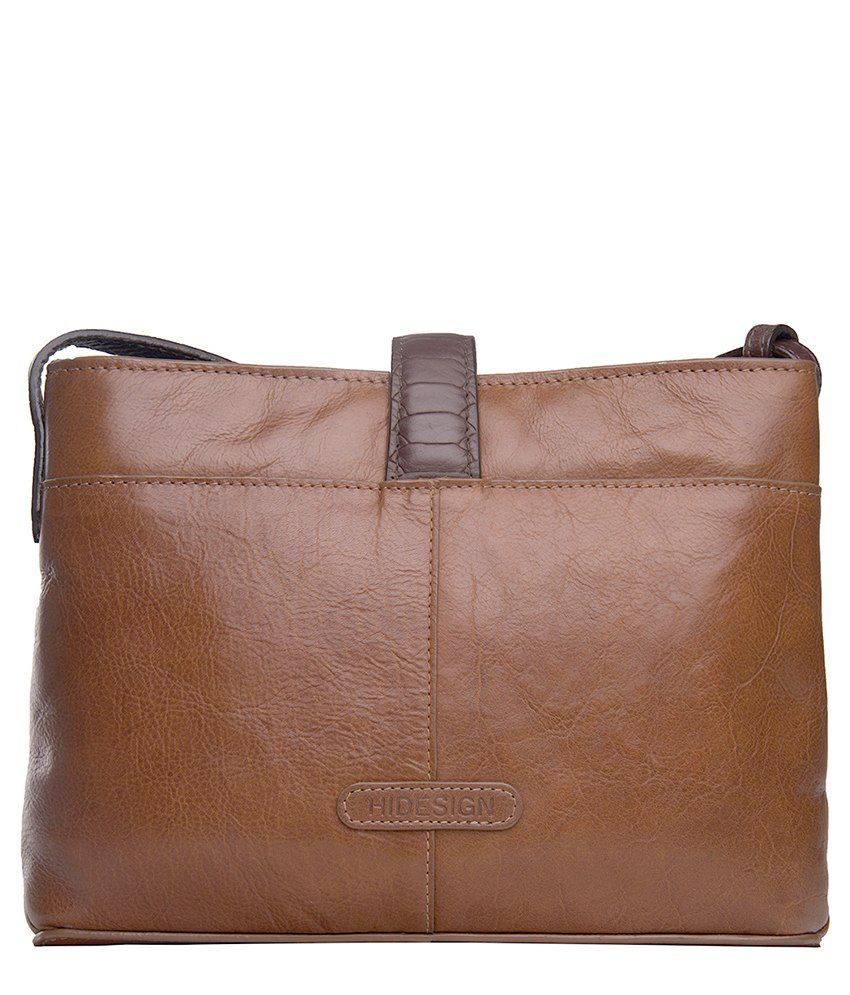 Hidesign Tan Sling Bags - Buy Hidesign Tan Sling Bags Online at ...