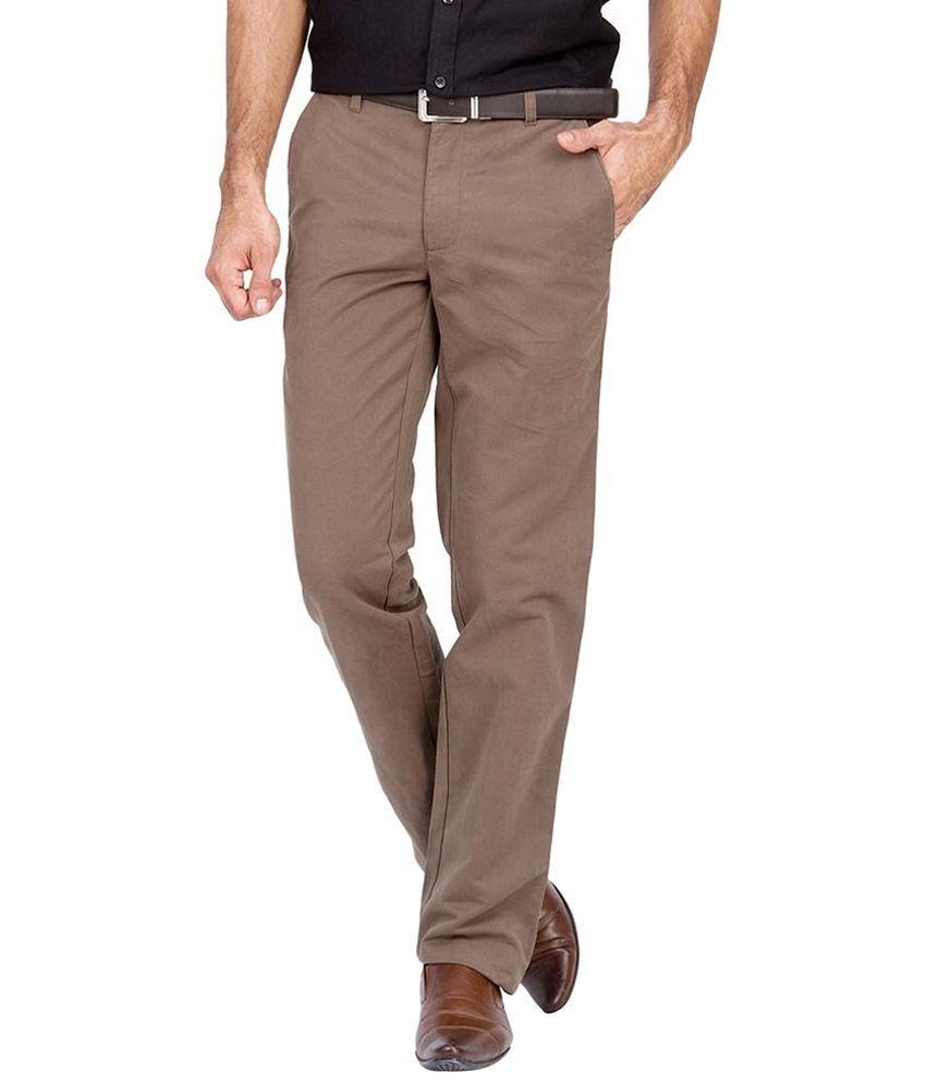 Urban Nomad Amazing Brown Cotton Trousers for Men