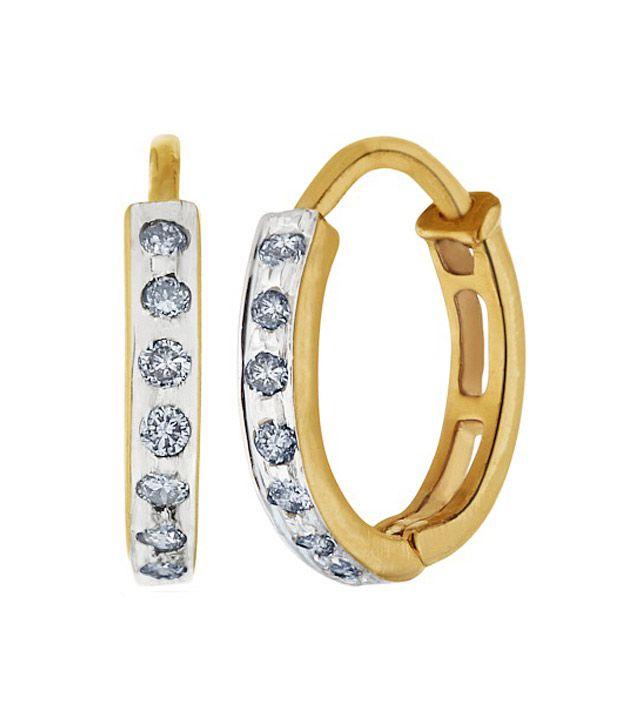 Aurik Jewels Contemporary 14kt Gold - Diamond Drop Earrings