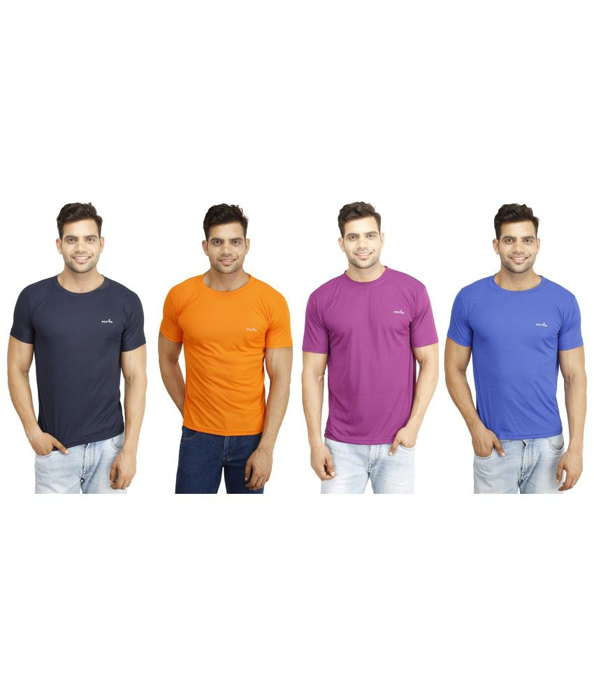 Eprilla Appealing Pack of 4 Multicoloured T Shirts for Men