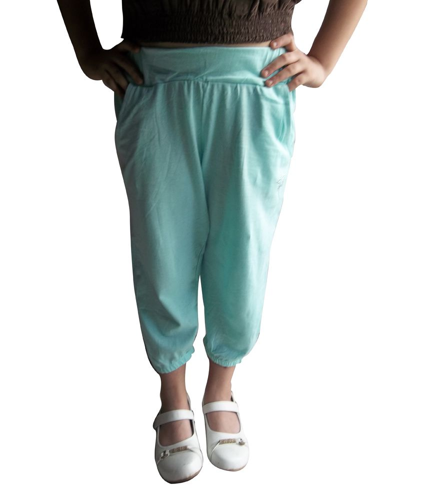 MC Turquoise Cotton Capris
