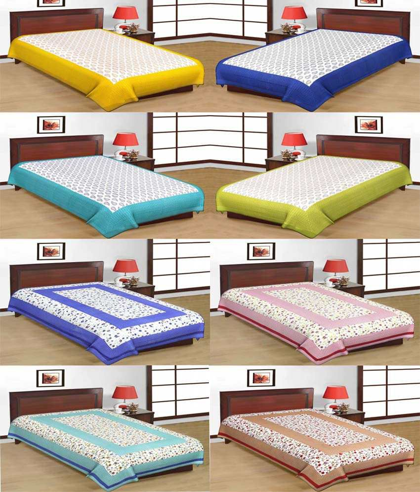 Cotton Bed Sheet Combo Offers