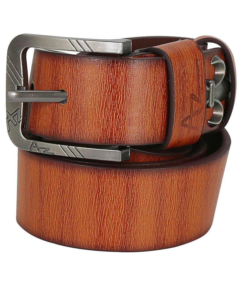 Hello Tan Pin Buckle Casual Belt