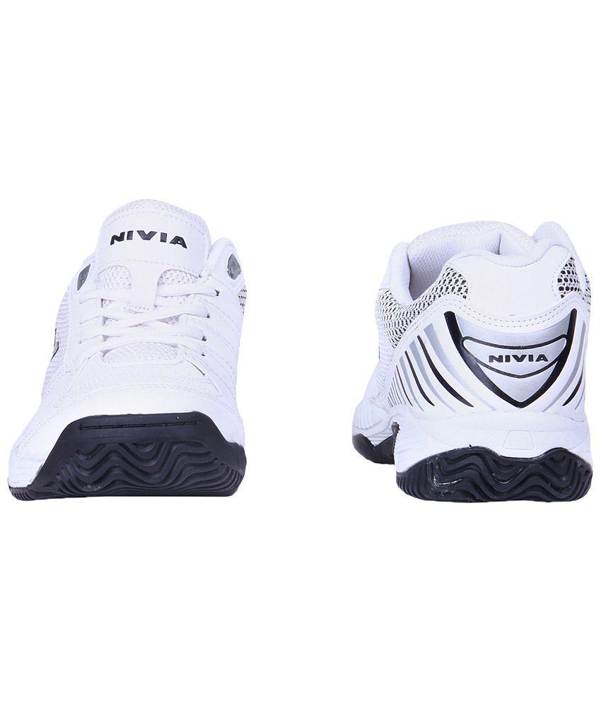 Nivia White Rapid Tennis Shoes for Men - Buy Nivia White Rapid ... 2ba857ebad0