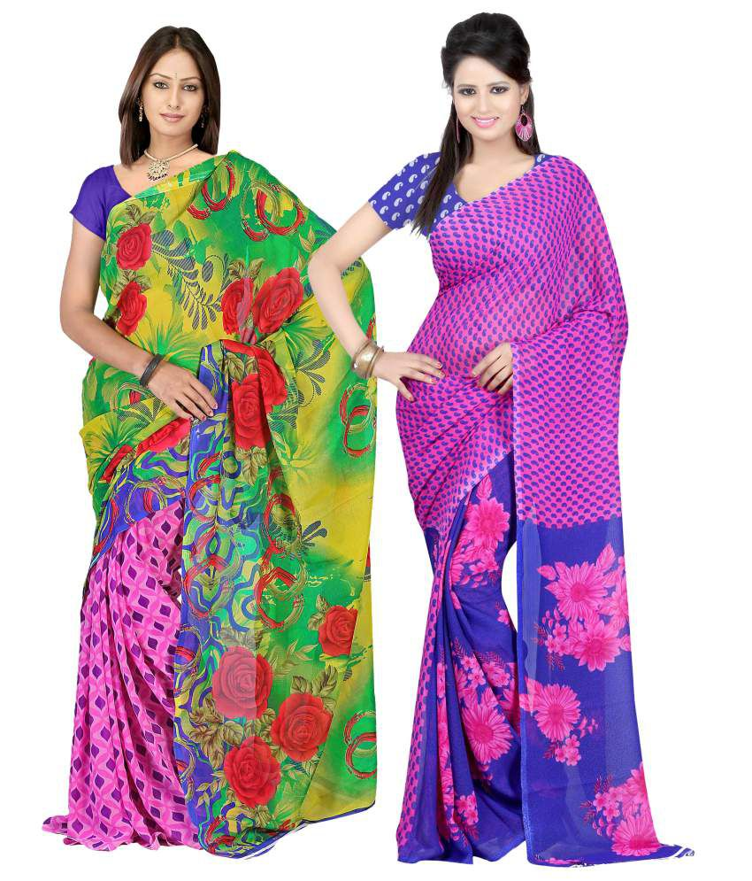 Yashika Multi Faux Georgette Pack of 2