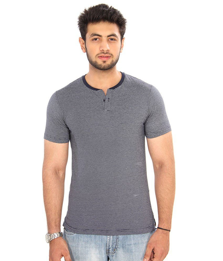 Bongio Navy Cotton T Shirt