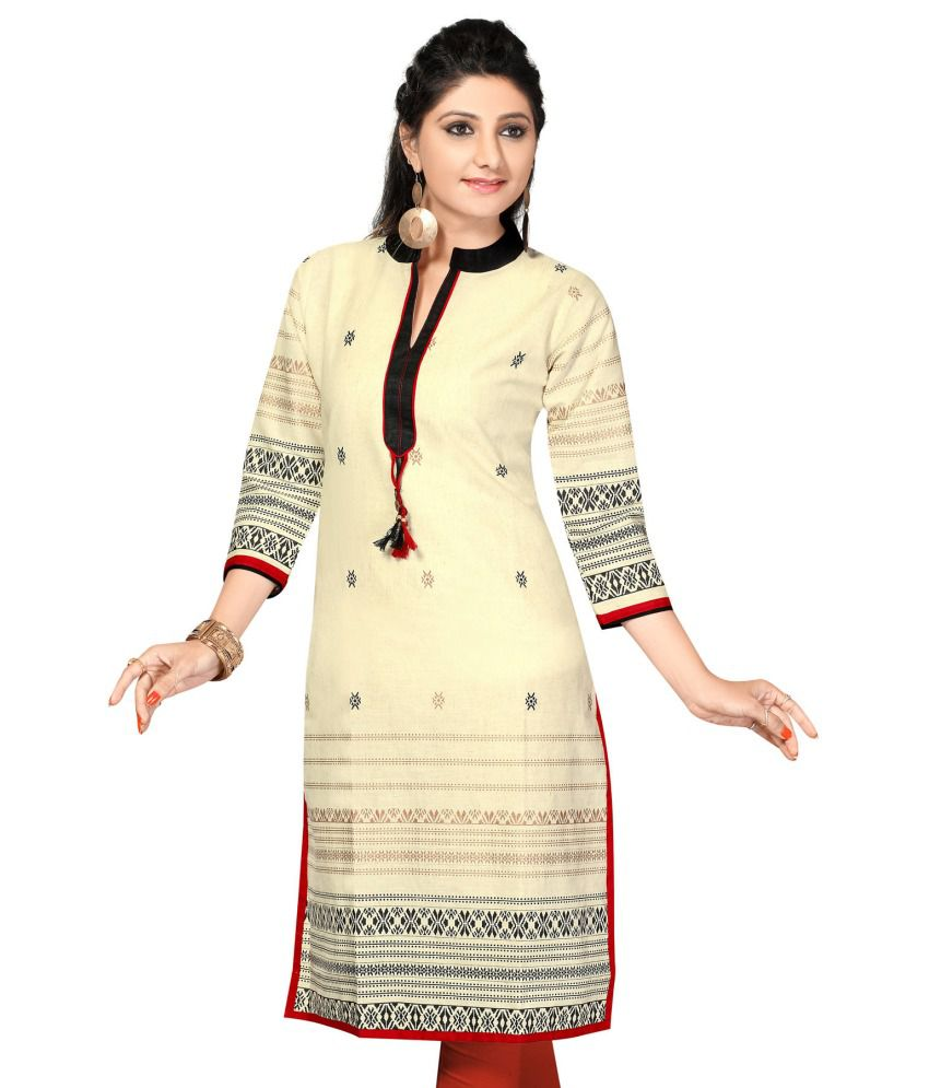 3df75d526a4 Designer Kurtis GhostWhite Cotton Kurti - Buy Designer Kurtis GhostWhite Cotton  Kurti Online at Best Prices in India on Snapdeal