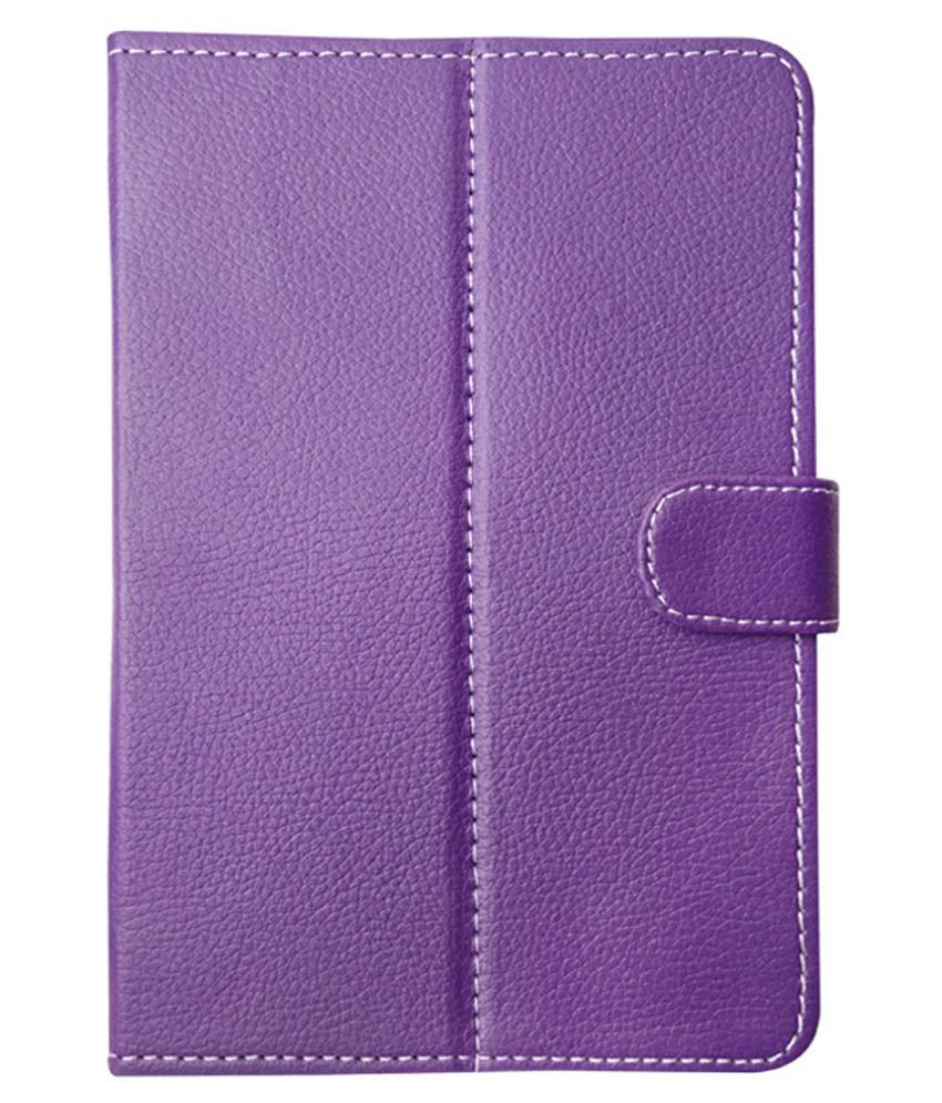 Fastway Flip Cover For Micromax Canvas P 470 Tab - Purple