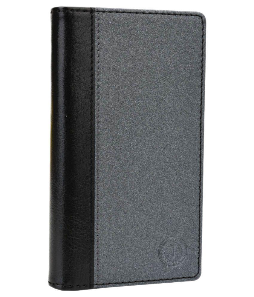 Jo Jo Flip Cover For Celkon A19 - Black