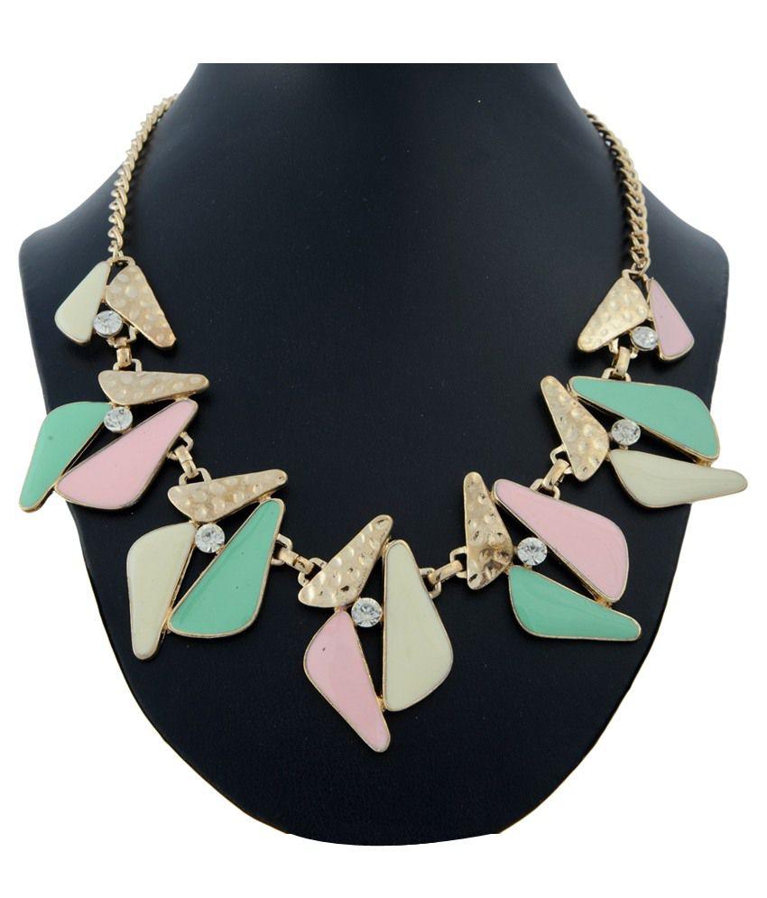 Tsg Yuth Multicolour Contemporary Design Style Diva Necklace