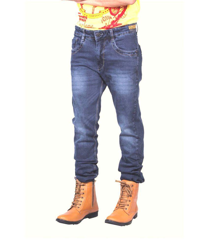 Wills & Scott Blue Cotton Blend Slim Fit Jeans