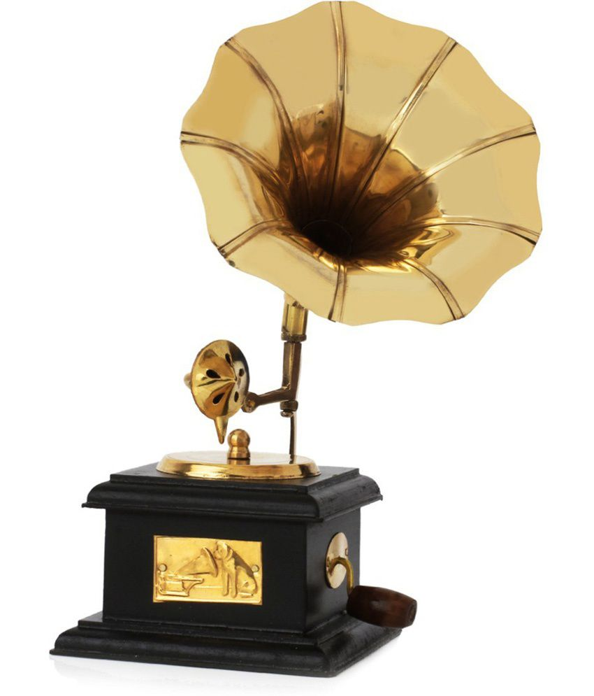 Being Nawab Brass Antique Square Gramophone : Sparkle Your