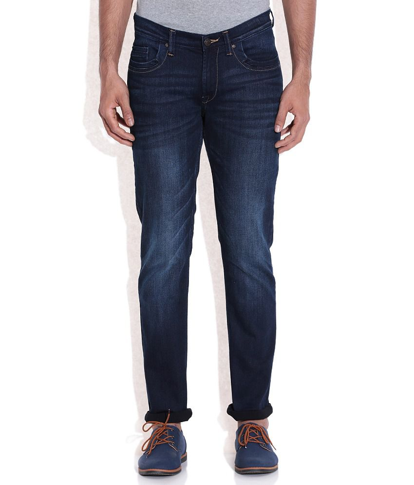 a858e589 Lee Navy Dark Wash Slim Fit Jeans - Buy Lee Navy Dark Wash Slim Fit Jeans  Online at Best Prices in India on Snapdeal