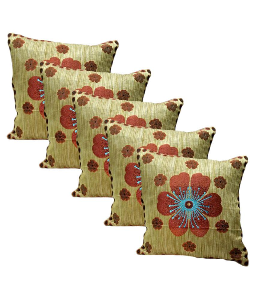 Shubh Home Decor Multicolour Polyester Cushion Covers