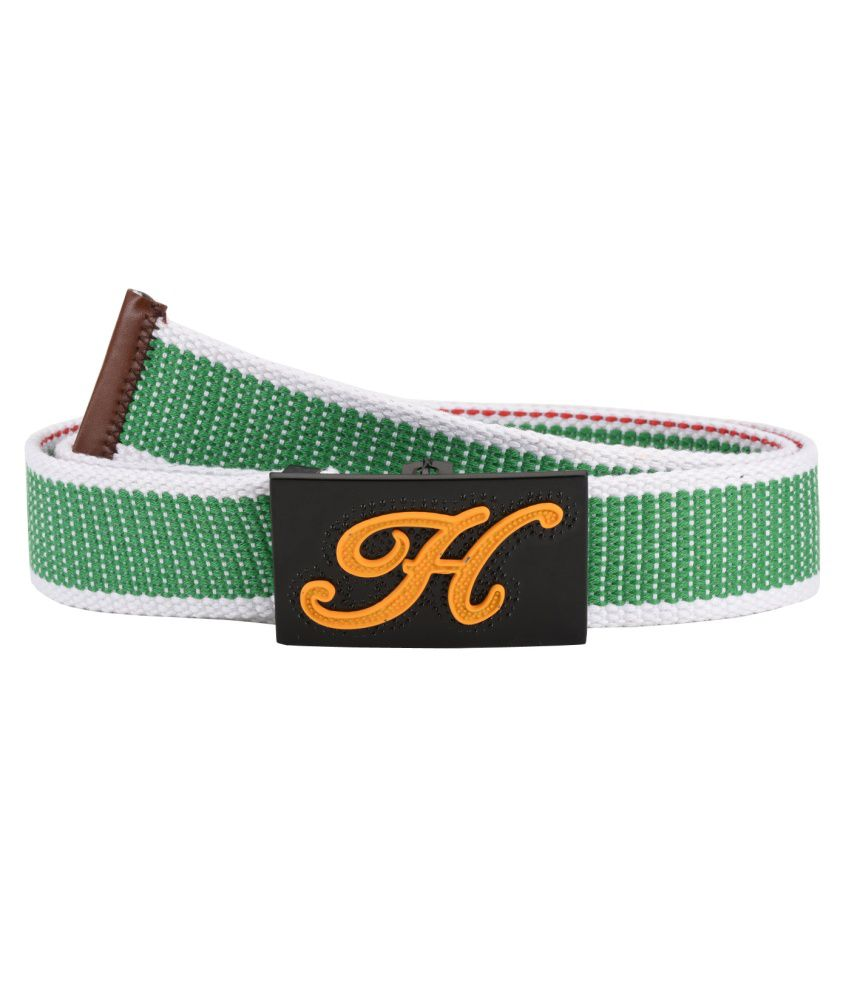 Tiekart Green Casual Reversible Belt For Men