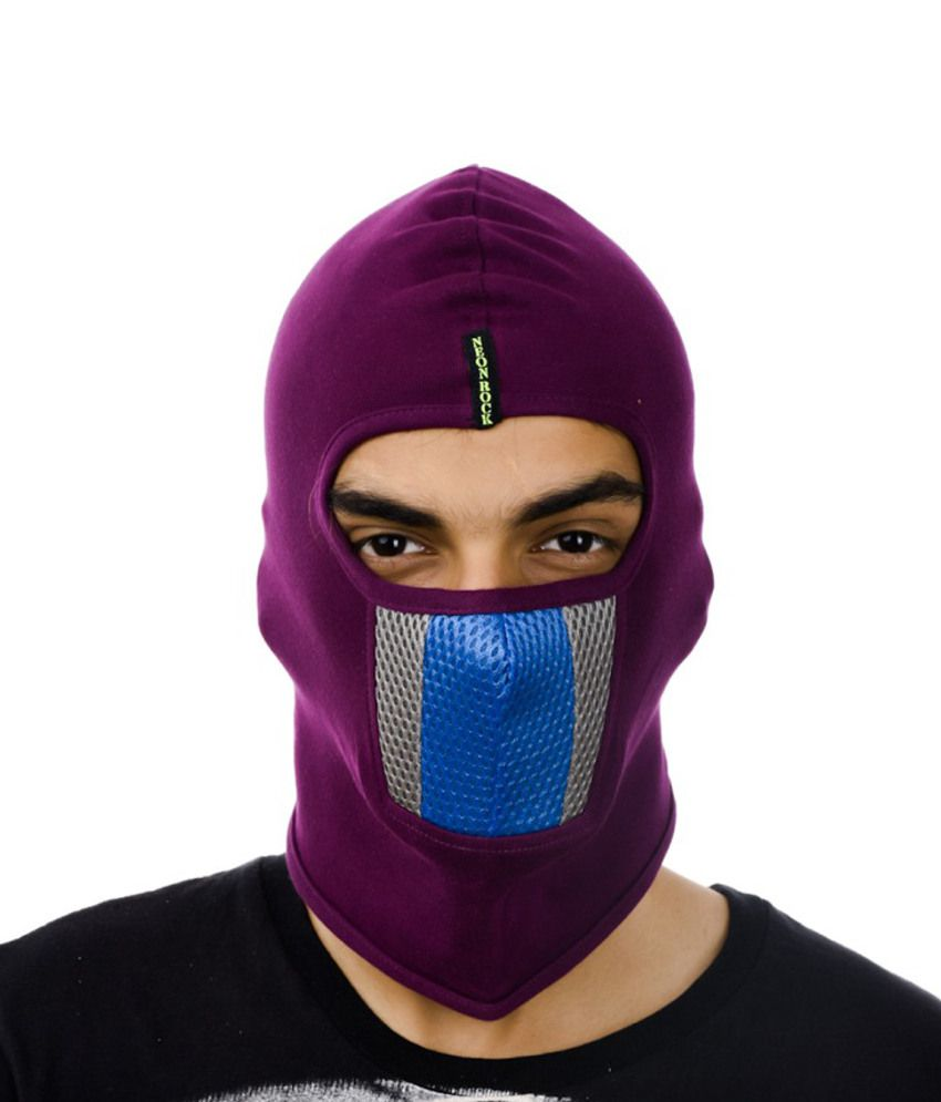 Tiekart Purple Cotton Headwrap For Men
