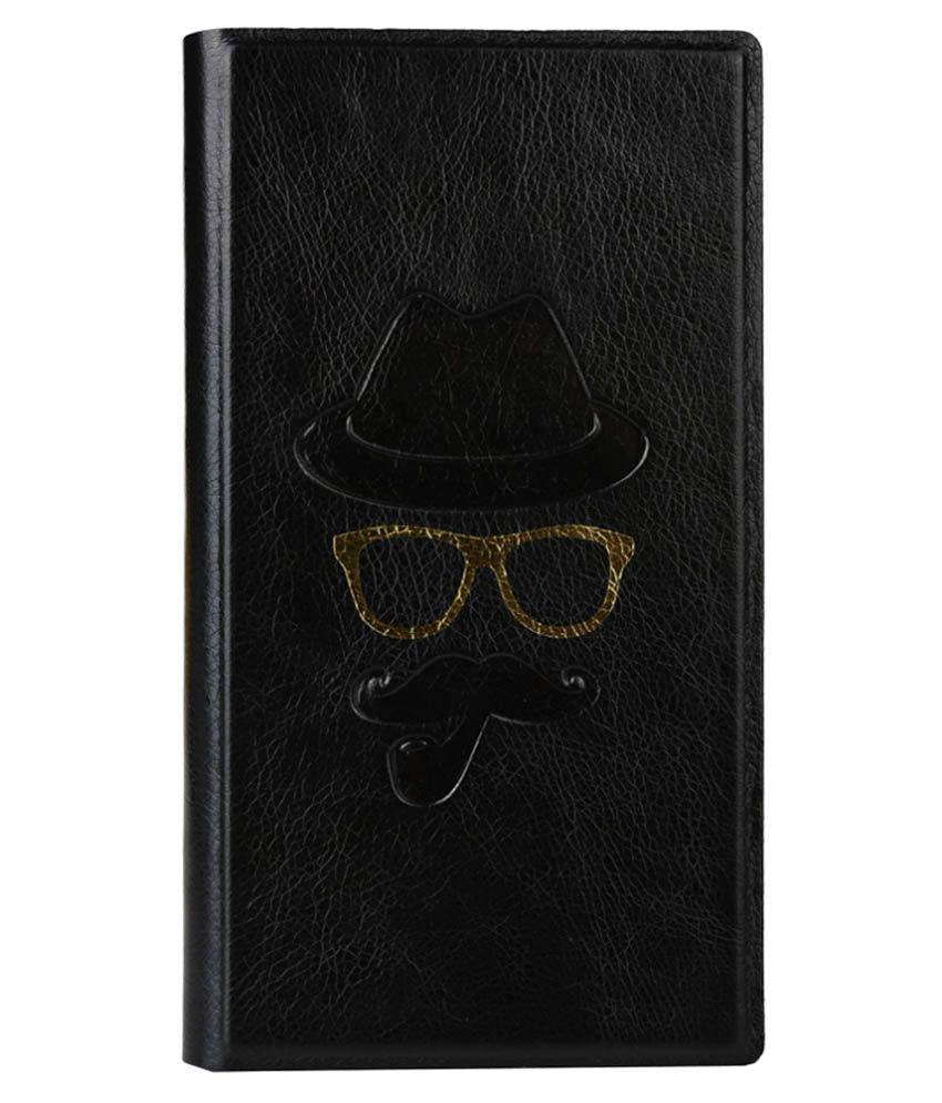 Jo Jo Flip Cover For Intex Aqua Q1 - Black