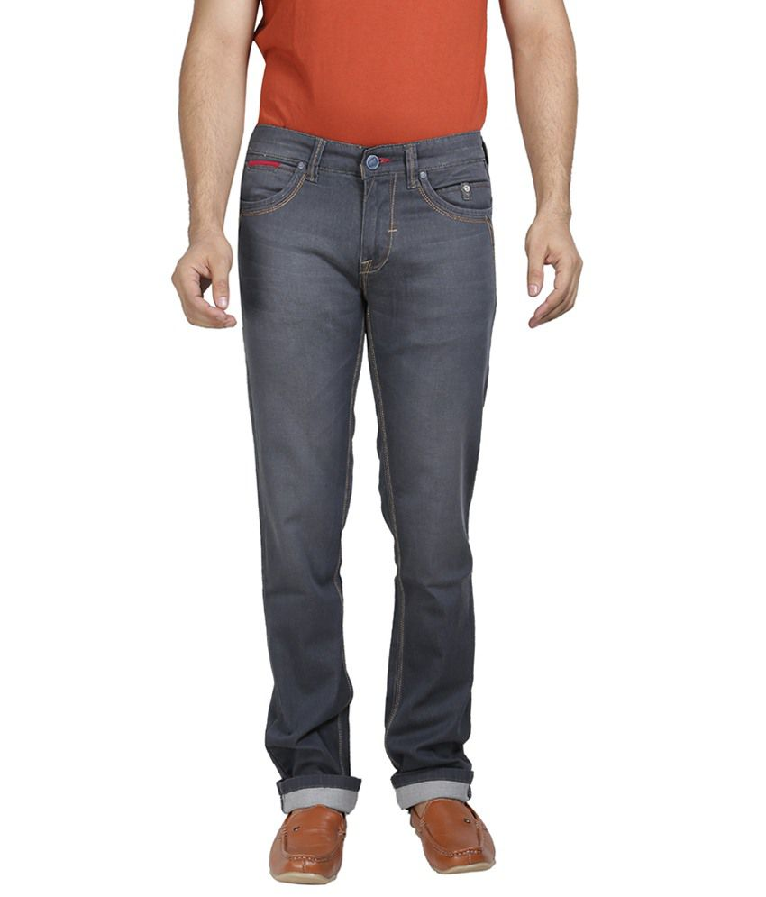 Mojave Gray Cotton Jeans