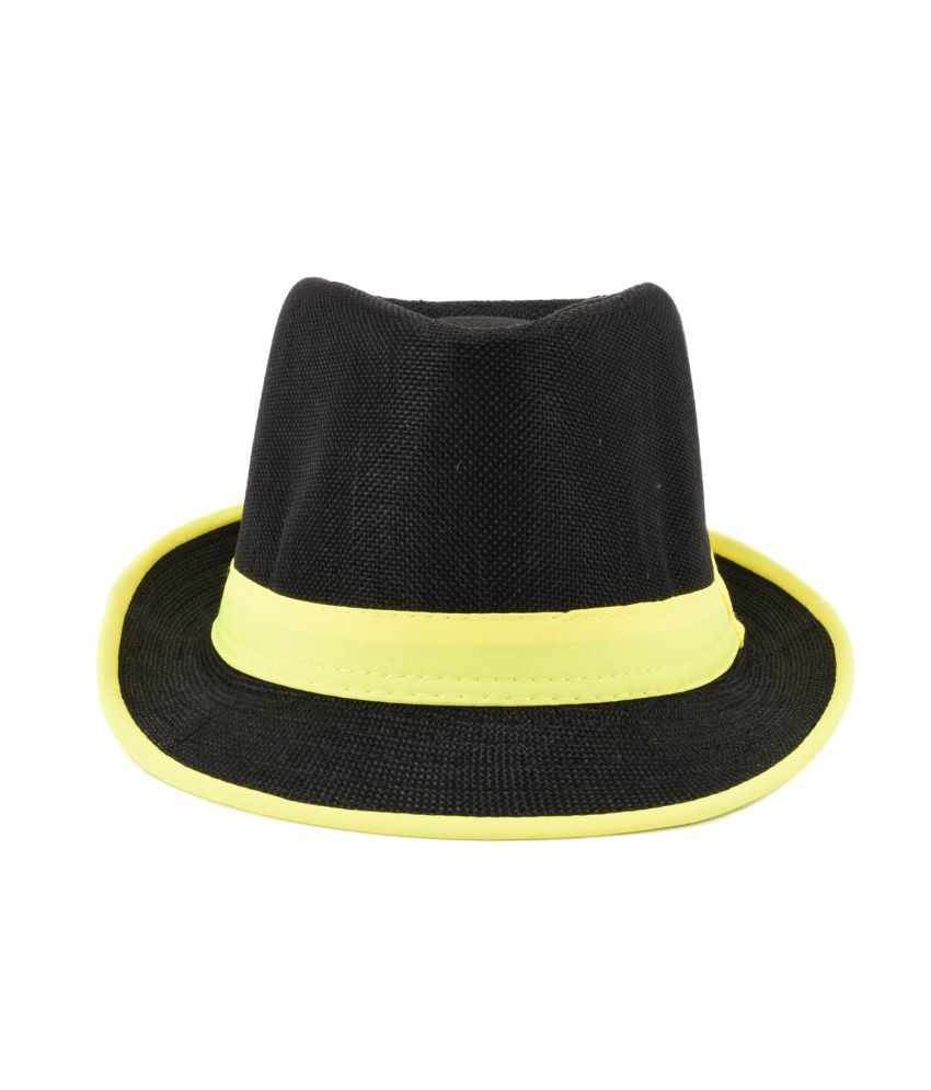 Tiekart Yellow Cotton Hat For Men