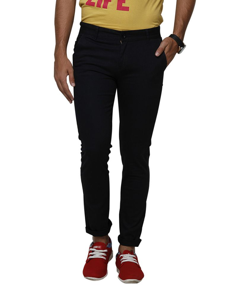Yepme Cotton Black Chinos