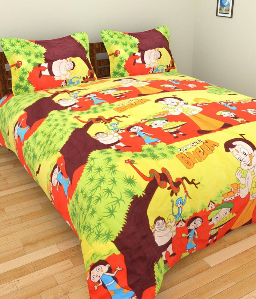 Fresh From Loom Orange Cotton Baby Themes Single Bedsheet