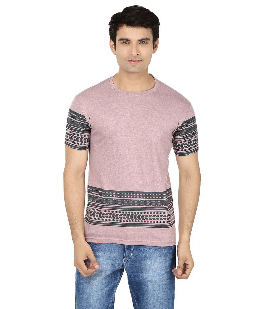 Minute Merge Purple Cotton Printed T-shirt