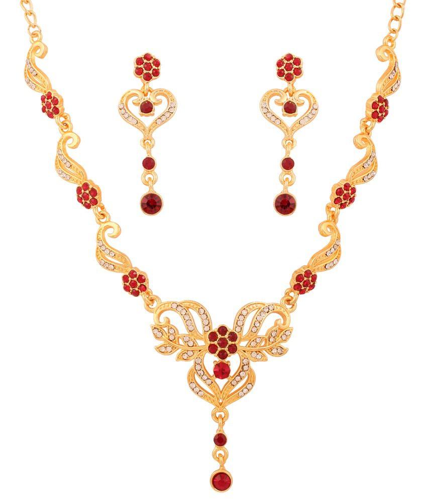 Touchstone Multicolour Alloy Necklace Set