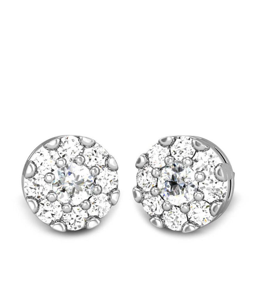 Candere Mrishti White Gold 14K Diamond Earrings