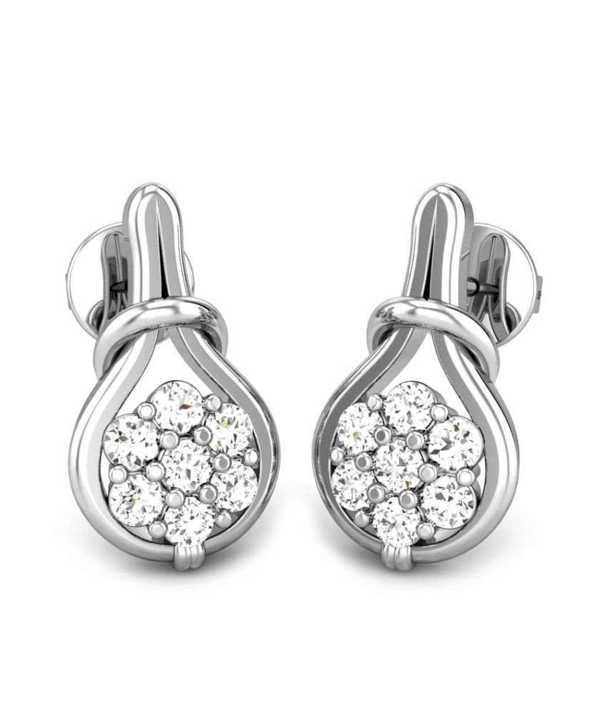 Candere Pranithi White Gold 14K Diamond Earrings