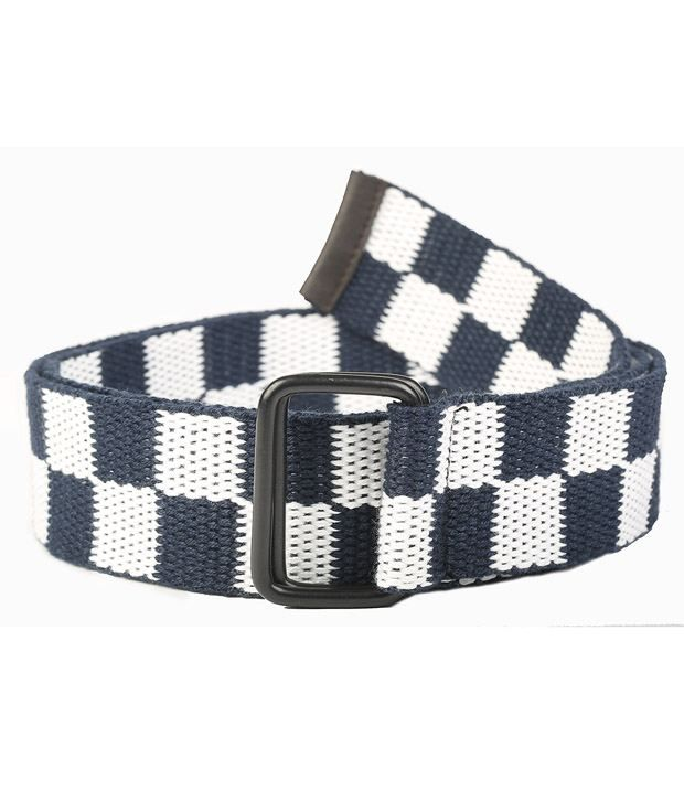 Chisel Blue and White Canvas Casual Belt