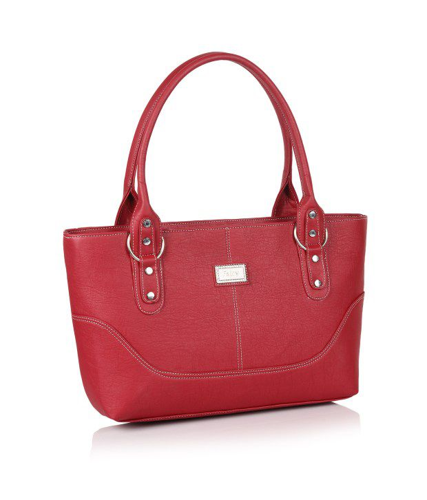 Jewel Fuel Red Non Leather Shoulder Bags