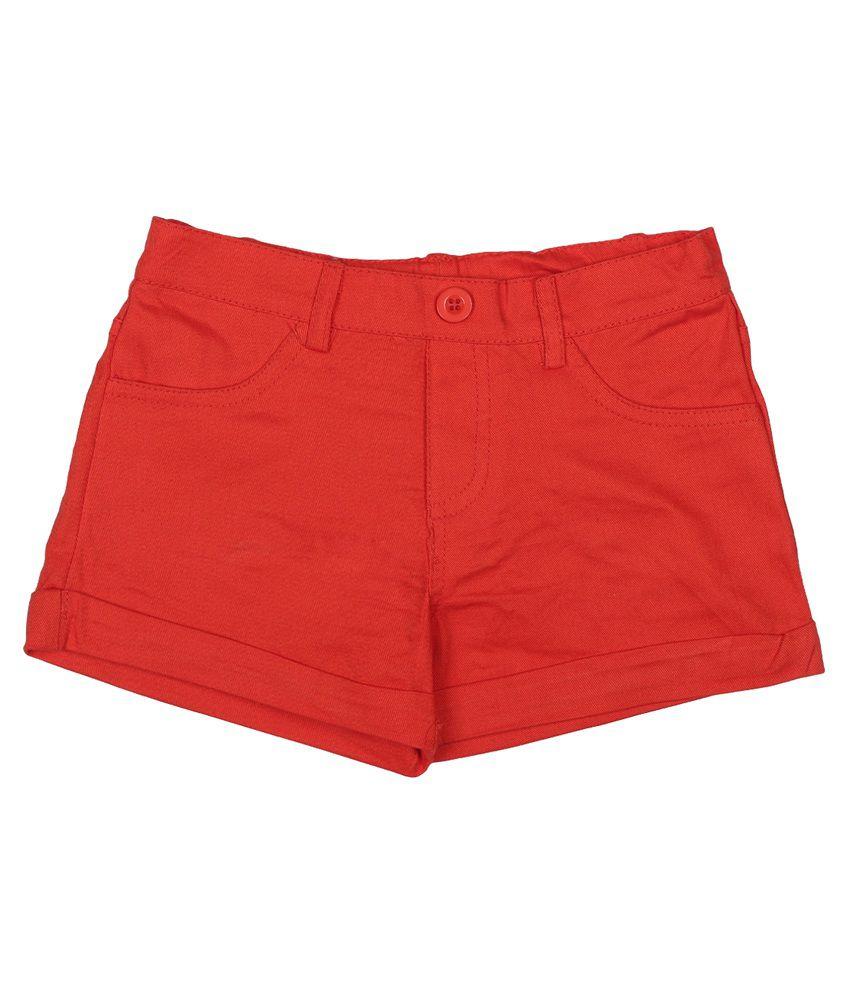Addyvero Orange Denim Shorts