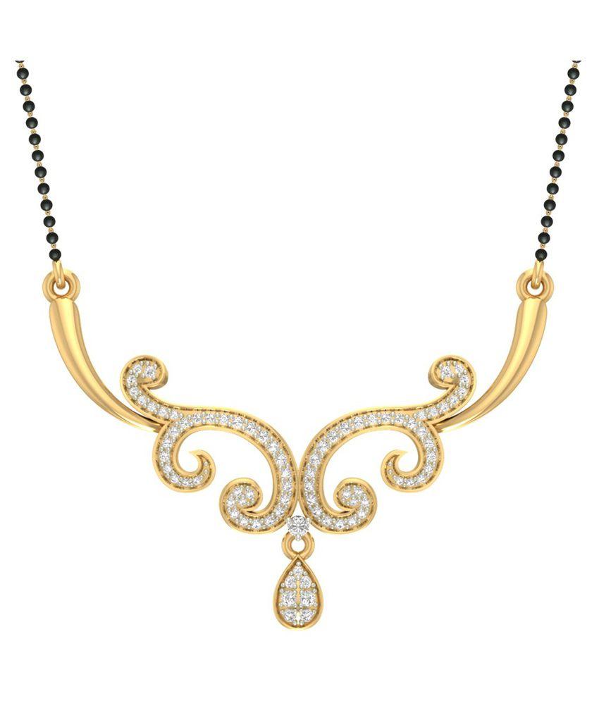 Jewels5 18kt Gold Diamond Mangalsutra