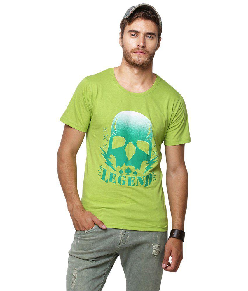 Yepme Green Legend T Shirt for Men