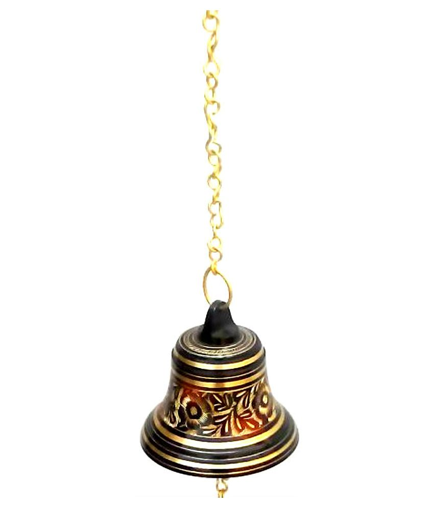 ... Bell Ring Metal Brass Hanging For Home Puja Temple And Door Bell 4.5  Inch Height