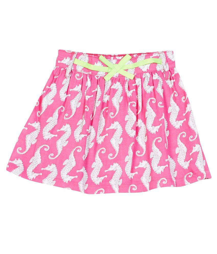Gini & Jony Pink Cotton Skirt