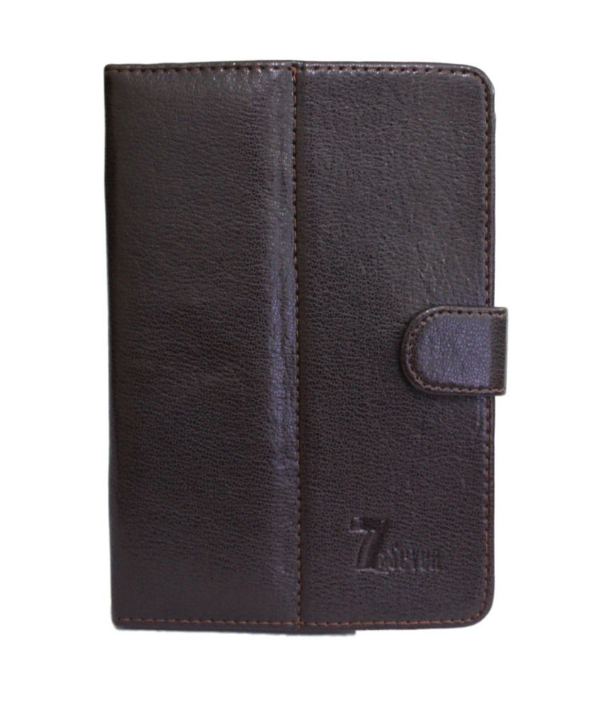 Jo Jo Leather Flip Cover For Celkon Ct-910+ - Brown