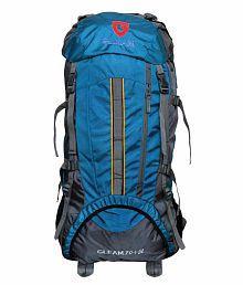 Gleam 2209 Mountain Rucksack,/Hiking/trekking bag/ Backpack 75 Ltrs Sky Blue & Grey with Rain Cover